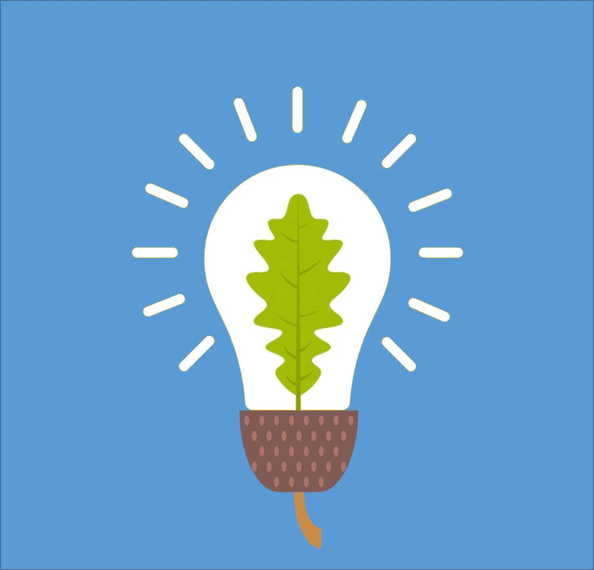 Acorn / Oak leaf lightbulb