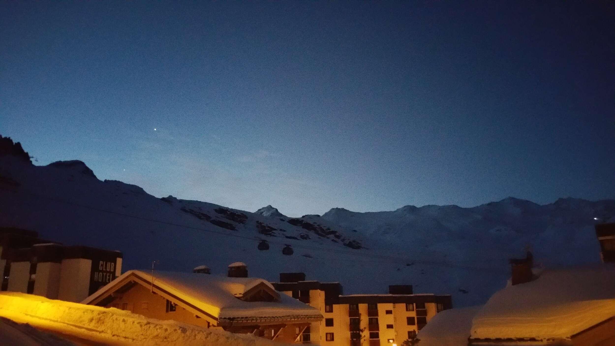 Evening Sky over Val-Thorens